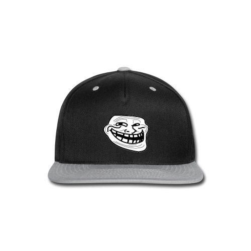 Troll Face short sleeved shirt - Snap-back Baseball Cap