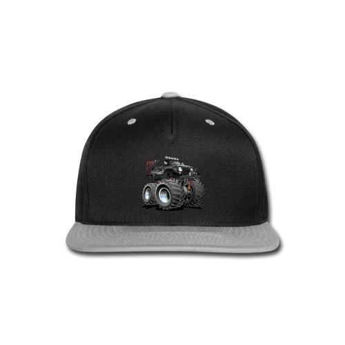 Off road 4x4 black jeeper cartoon - Snap-back Baseball Cap