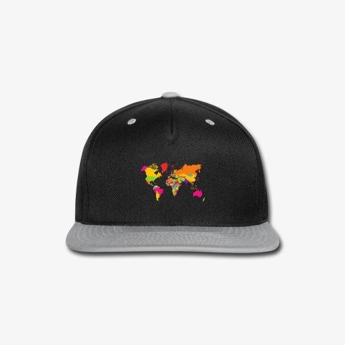 Rainbow earth - Snap-back Baseball Cap