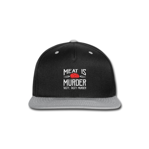 meat is murder vegan t shirt - Snap-back Baseball Cap
