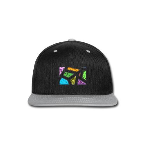 geometric artwork 1 - Snap-back Baseball Cap