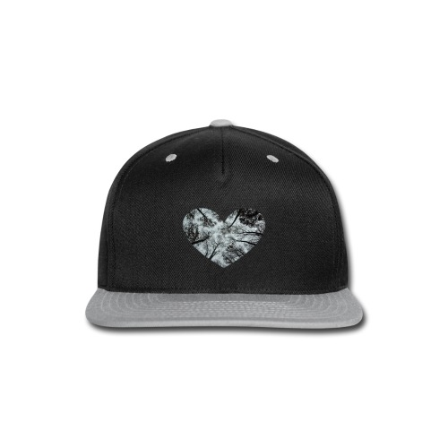 Heart Abstract Black and White Trees - Snap-back Baseball Cap