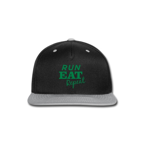 Run Eat Repeat buttons medium - Snap-back Baseball Cap