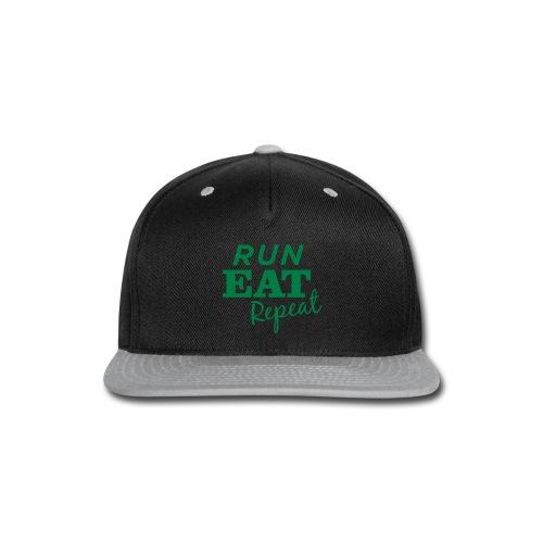 Run Eat Repeat buttons medium - Snap-back Baseball Cap