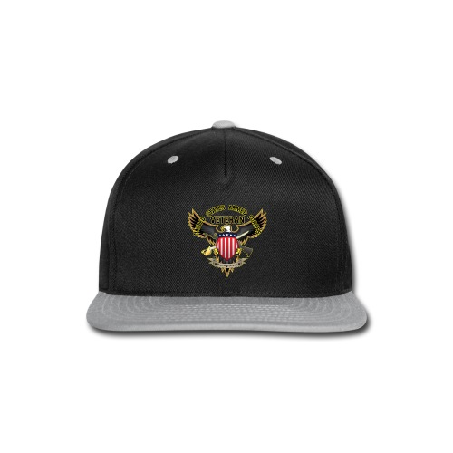 United States Armed Forces Veteran, Proudly Served - Snap-back Baseball Cap