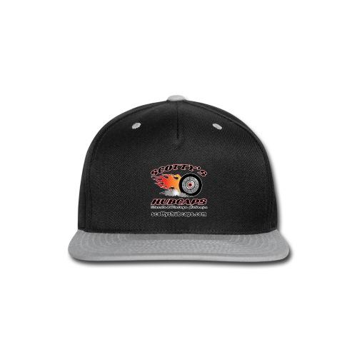 ScottysHubcaps Logo wWebsite WhiteOutline - Snap-back Baseball Cap