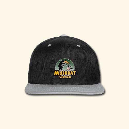 Muskrat round logo - Snap-back Baseball Cap