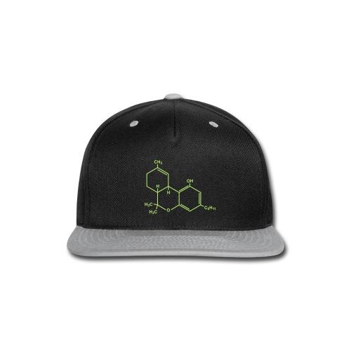 Marijuana (THC) Molecule - Snap-back Baseball Cap