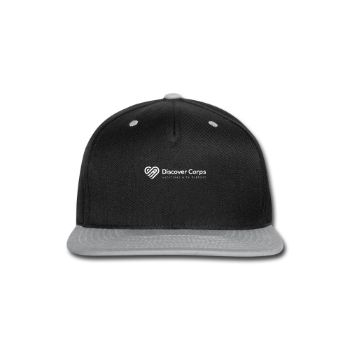 DiscoverCorp Logo Horizontal Rev High white - Snap-back Baseball Cap