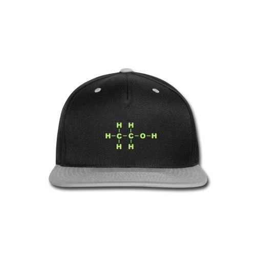 Alcohol Molecule - Snap-back Baseball Cap