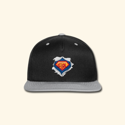 super girl - Snap-back Baseball Cap