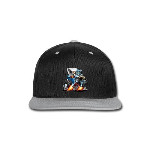 Custom T-bucket Roadster Hotrod Cartoon - Snap-back Baseball Cap