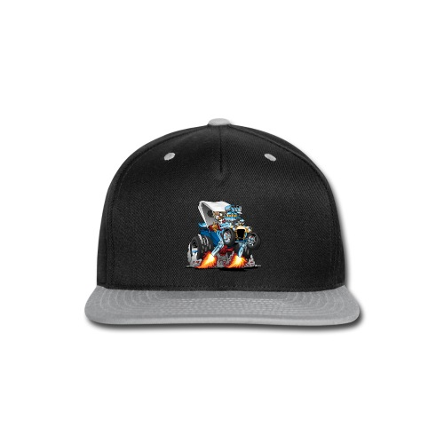 Custom T-bucket Roadster Hotrod Cartoon - Snap-back Baseball Cap