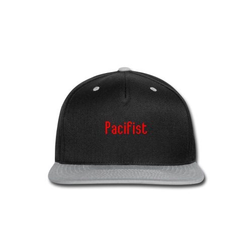 Pacifist T-Shirt Design - Snap-back Baseball Cap