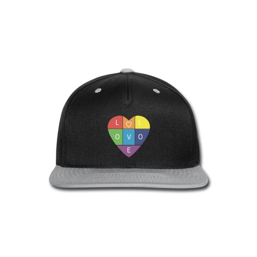 Rainbow Heart - Snap-back Baseball Cap