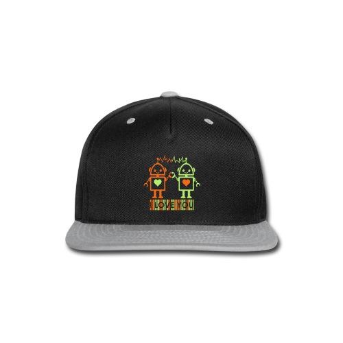Robot Couple - Snap-back Baseball Cap