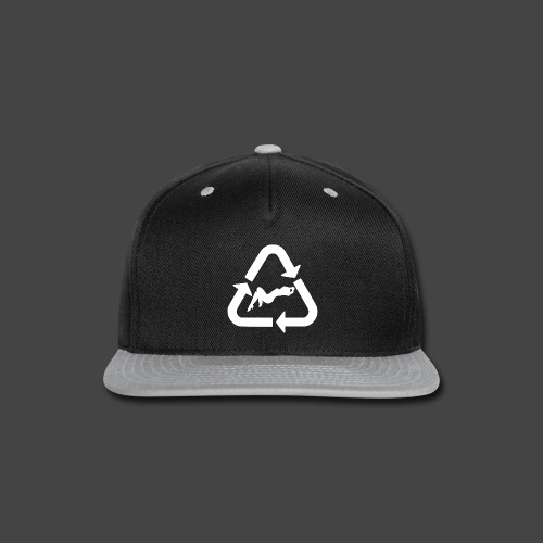 Recycle (Woman Logo 1 - Light) - Snap-back Baseball Cap