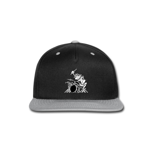Crazy Drummer Cartoon Illustration - Snap-back Baseball Cap