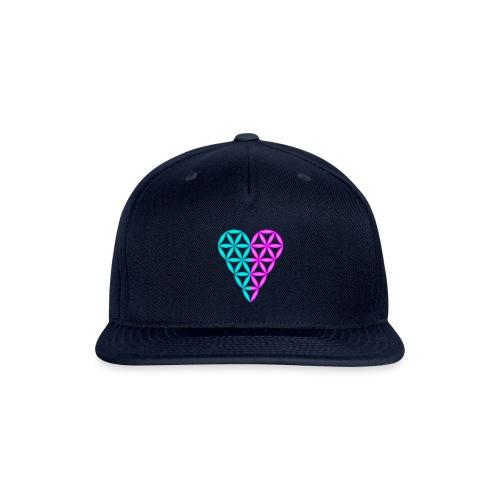 Dual Heart - Heart of Life - 3D. - Snap-back Baseball Cap