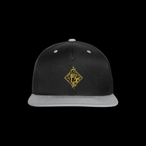 NAME STARTS WITH B MONOGRAM FANCY BEE! - Snap-back Baseball Cap
