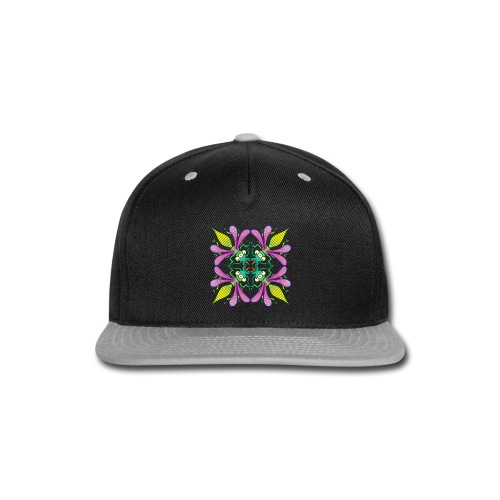 Glowing insects meeting in the middle of the night - Snap-back Baseball Cap