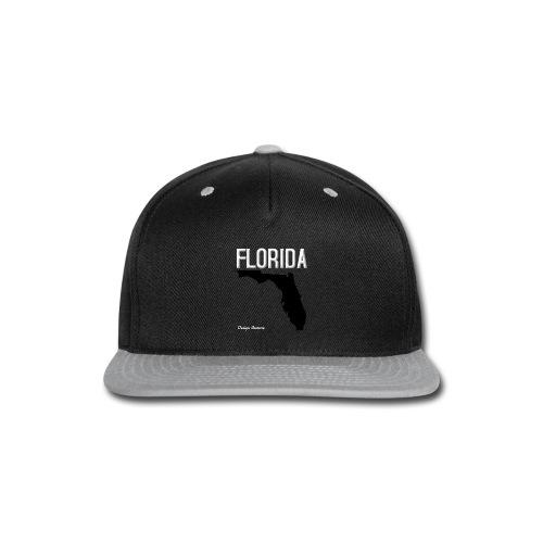 FLORIDA REGION MAP WHITE - Snap-back Baseball Cap