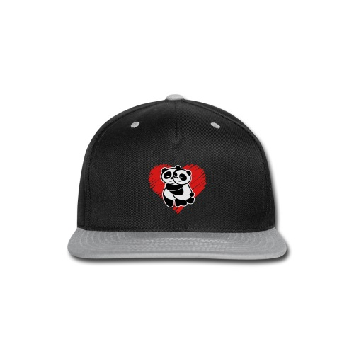 Panda Love - Snap-back Baseball Cap