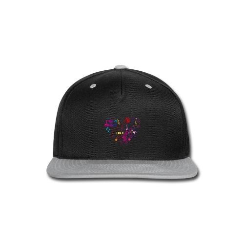 T-shirts music love - Snap-back Baseball Cap