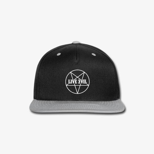 Live Evil OG Logo (White) - Snap-back Baseball Cap