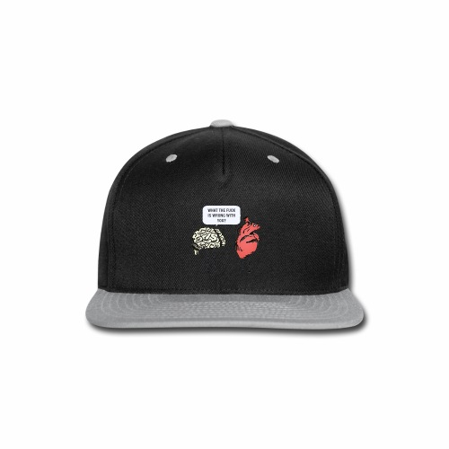 brain vs heart - Snap-back Baseball Cap
