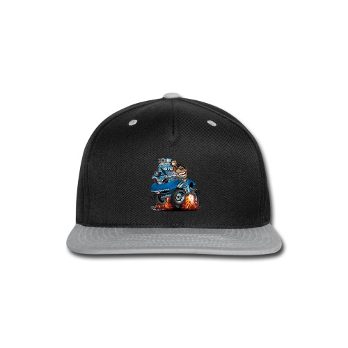 Classic '69 American Sports Car Cartoon - Snap-back Baseball Cap