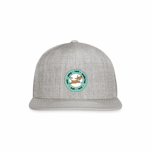 Dogs' Circle of Happiness - Snap-back Baseball Cap