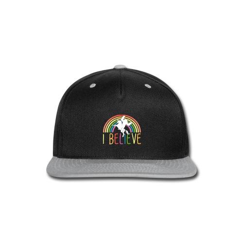 I Believe in Unicorns and Sasquatch Bigfoot - Snap-back Baseball Cap