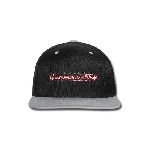 AMARU - Champagne Attitude (Album Logo) - Snap-back Baseball Cap