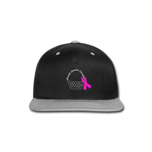 White Comfort Basket - Breast Cancer - Snap-back Baseball Cap