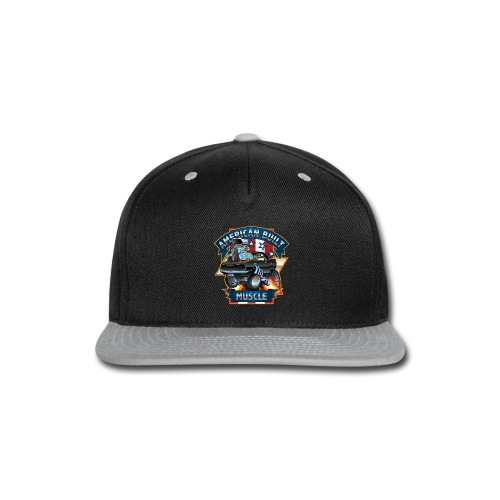 American Built Muscle - Classic Muscle Car Cartoon - Snap-back Baseball Cap