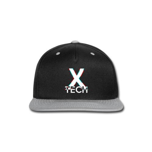 X-Tech Logo - White - Snap-back Baseball Cap
