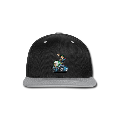 Hot Rod Electric Car Cartoon - Snap-back Baseball Cap