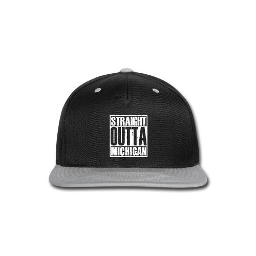 Straight Outta Michigan - Snap-back Baseball Cap