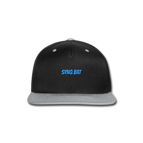 SynQ Bat - Cartoon Logo - Snap-back Baseball Cap