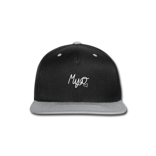 Mya, Signature Hand Drawn (White) - Snap-back Baseball Cap
