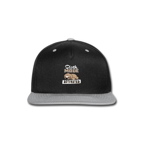 Sloth Mode Activated - Snap-back Baseball Cap