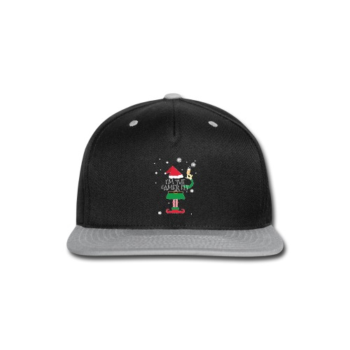 Im the gamer Elf Funny Christmas T-Shirt Gift - Snap-back Baseball Cap
