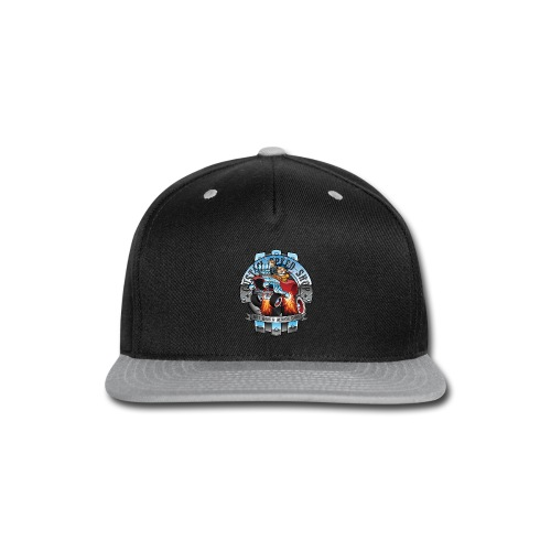 Custom Speed Shop Hot Rods and Muscle Cars Illustr - Snap-back Baseball Cap