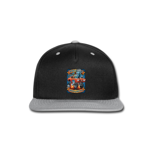 Classic Sixties Muscle Car Parts & Service Cartoon - Snap-back Baseball Cap