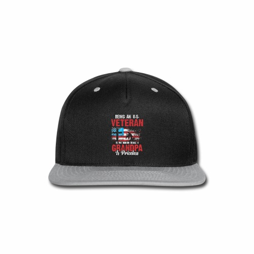 BEING AN U S VETERAN IS AN HONOR BEING A GRANDPA - Snap-back Baseball Cap