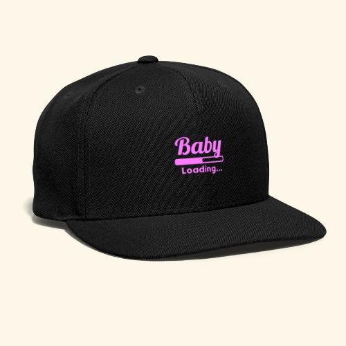 Pink Baby Loading - Snap-back Baseball Cap