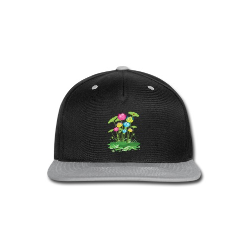 colorful waterlilies flowers - Snap-back Baseball Cap