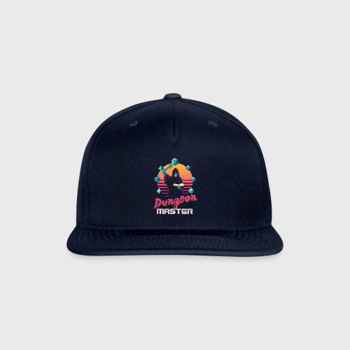 dungeon master outrun neon fantasy gift shirt - Snap-back Baseball Cap