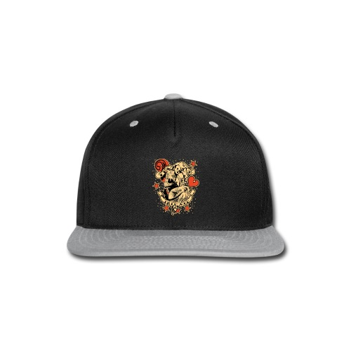 Screwed & tattooed Pin Up Zombie - Snap-back Baseball Cap